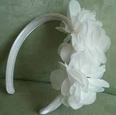 Flower Girl Headband Silk Floral Fascinator Wedding by lovelygifts, $30.00