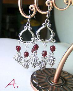 Earrings September in Chianti. Earrings grapes par EarringsandJoy