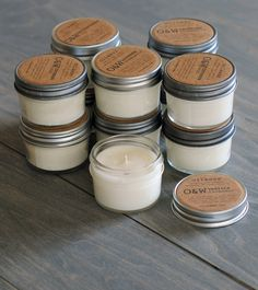 100 natural soy candles, great as wedding favors or gifts for your bridesmaids, eco-friendly. $475.00, via Etsy.
