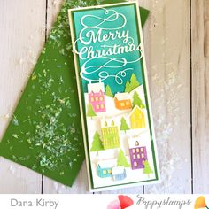 The Poppystamps design team bringing you creative thinking inside and out Xmas Cards To Make, Die Cut Christmas Cards, Merry Christmas, Handmade Christmas, Holiday Cards, Stamping Up Cards, Winter Cards, Do It Yourself Home, Copics