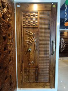 House Main Door Design, Main Entrance Door Design, Pooja Room Door Design, Door Design Interior, Single Front Door Designs, Single Door Design, Double Door Design, Indian Main Door Designs, Latest Door Designs
