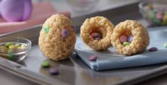 Easter Rice Treat Nests! Super cute!