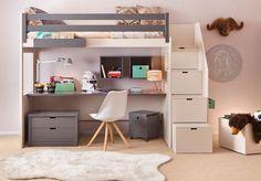 Handmade Children's Loftbed and Desk by Asoral of Spain