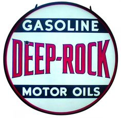 A two-sided, three-color porcelain petroliana sign for Deep-Rock Gasoline & Motor Oils, 48 inches in diameter and in the original steel frame, sold for $9,000 at an auction held Nov. 7-8 by Rich Penn Auctions in Des Moines, Iowa.