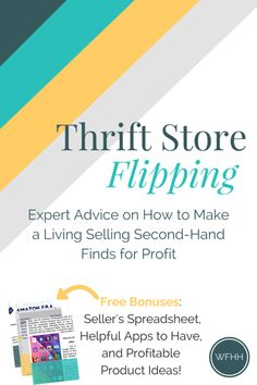 Turn thrift store treasure hunting into your full-time job. Click through to find out how this expert seller started selling second-hand items for profit and turned it into a profitable online business. Plus, plenty of bonuses including a seller\'s spreadsheet, helpful apps to have, and profit products you can start selling for profit!