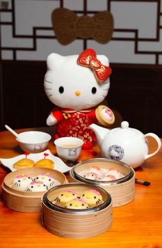 It's a new restaurant in Hong Kong where it is not ~physically possible~ to have TOO much Hello Kitty with your meal.
