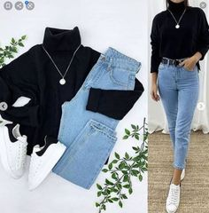 Casual College Outfits, Cute Casual Outfits, Everyday Outfits, Stylish Outfits, Girls Fashion Clothes, Winter Fashion Outfits, Look Fashion, Fashion Beauty, Ideias Fashion