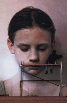 Stunningly lifelike work by Gottfried Helnwein