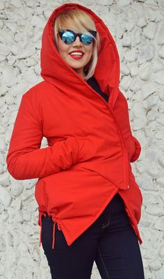 Red Extravagant Padded Jacket Red Waterproof Microfiber https://www.etsy.com/listing/502020111/red-extravagant-padded-jacket-red?utm_campaign=crowdfire&utm_content=crowdfire&utm_medium=social&utm_source=pinterest