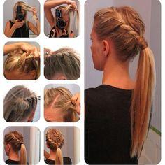 Very cute braided style!