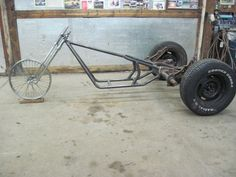 Low Rider VW Volkswagen Trike Frame Kit Hot Rod Rat Bike Motorcycle 3