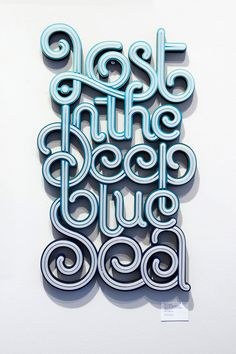 Typography / Lost in the deep blue sea Typography Exhibition on Typography Served