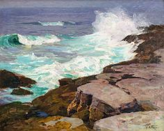 """Surf at Low Tide,"" Edward Henry Potthast, ca. 1915, oil on canvas, 24 x 30"", Caldwell Gallery Hudson."