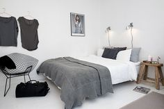 The perfect grey scale coloured bedroom