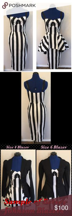 Deadly Dames Glamour Ghoul Dress Unique Couture dress with attachable skirt. Can be work as a plain straight dress or add the skirt for a fun flair! The skirt can even be matched with a cute top! This dress goes great with the Betsey Johnson blazers! See photos! Zipper down back. Adjustable straps. Like new! Still purchasable from their site for $120. Offering discounted rate! Also for a short period bundle 2 and get 30% off! 97% cotton, 3% spandex Dry clean only Pinup Girl Dresses Midi