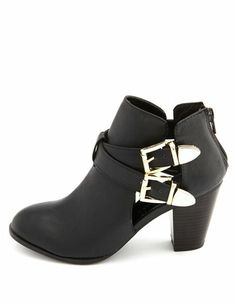 Cutout Double Buckle Ankle Bootie In love with that cutout detail