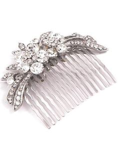 Beautiful Vintage Inspired Estate Crystal Rhinestone Hair Comb (Sparkle-1526-U)