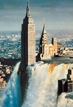 NYC. Manhattan drowning (with the help of Photoshop)