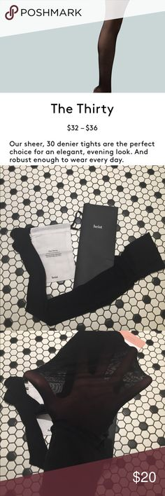 """Heist Tights (the 30) UK 6/8 which fits a US 2/4 see photo for measurements. The thirty is the lightest tight. Claim to fame is """"tights that don't dig, sag, itch or snag, but are actually a pleasure to move in."""" Lower rise not high rise. New with tags and comes with dustbag. No trades. Heist Other"""
