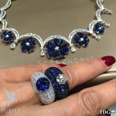 These wonderfully striking blue rings and necklace by @STENZHORN is sure to earn you a mention with Fashion Police! If it doesn't well they must at least be blind! Via @the_diamonds_girl #purplebyanki #diamonds #luxury #loveit #jewelry #jewelrygram #jewelrydesigner #love #jewelrydesign #finejewelry #luxurylifestyle #instagood #follow #instadaily #lovely #me #beautiful #loveofmylife #dubai #dubaifashion #dubailife #mydubai #necklace #rings