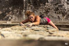 Shut Up and Climb — adrenalinepics:   Girl climbing a rock facade in...