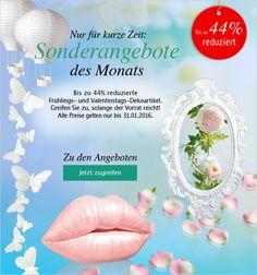 Bis zu 44 % #reduzierte #Frühlingsdeko und #Valentinstagsdeko! Nur noch für kurze Zeit und solange der Vorrat reicht! #Deko #Dekoration  #Liebe #Love #Frühling #Romantik http://shop.decowoerner.com/cgi-bin/WebObjects/XSeMIPS.woa/cms/page/locale.deDE/pid.4437/mlid.1904/NL-2016-01-19-AdM-AI.html