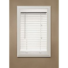 2 Inch Faux Wood Blind, White - 36 Inch x 48 Inch