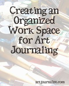 While it would be nice if we could all have craft rooms like you see in home and garden magazines, that just isn't always possible! See how I found space for my art journaling and keep my supplies organized.