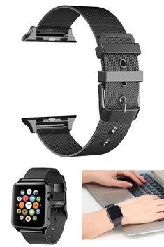 iWatch Milanese Loop Stainless Steel Bracelet Strap Band Apple Watch Black 42mm  #Apple
