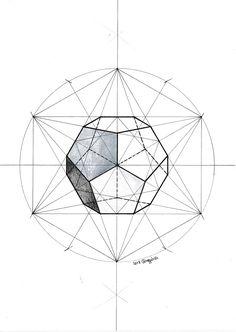 Regolo Geometric Drawing, Geometric Art, Graph Paper Art, Platonic Solid, Sacred Geometry Tattoo, Math Art, Graphic Design Illustration, Islamic Art, Art Techniques