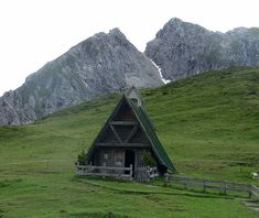 A frame house in the mountains