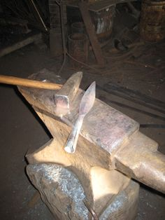 As is from the hammer and anvil