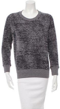 Iro Burnout Sweatshirt Grey Sweatshirt, Hoodies, Sweatshirts, Rib Knit, Scoop Neck, Pullover, Stylish, Sleeves, Sweaters