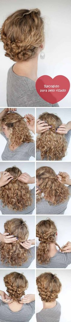 Cute for someone with curly hair Hair Romance - curly Twist & Pin hairstyle tutorial Travel Hairstyles, Up Hairstyles, Pretty Hairstyles, Stylish Hairstyles, Fashion Hairstyles, Wedding Hairstyles, Hairdos, Amazing Hairstyles, Homecoming Hairstyles