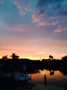 Beautiful sunset at  Cape Coral, FL