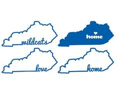 Kentucky, Home Sweet Home, Love, Wi ldcats - SVG, DXF, EPS, Cricut ...
