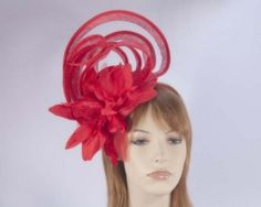 Fascinator with flower for Melbourne Cup Derby races buy online in Aus MA589