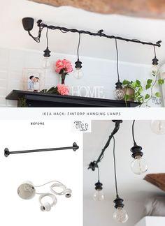 Ikea Hack: DIY Hanging Lights Chandelier   One O DIY