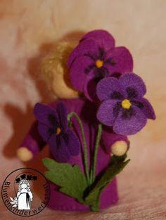 Stiefmütterchen Blumenkinderwerkstatt - Blumenkinder für den Jahreszeitentisch