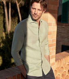 Portofino Shirt, Mother Of Pearl Buttons, Midnight Blue, Classic Looks, Perfect Fit, Pure Products, Siena, Casual, Mens Tops
