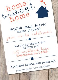 Housewarming Invitation Wrap Around Evelope Sticker  Housewarming