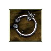 Beautiful hand cast pewter Celtic kilt or cape pin.