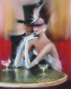 CAFE DE FLORE #art  #artoftheday  #pastel  #painting  #cafedeflore  #paris  #france #ambiance  #champagne  #rosé  #date  #elegant  #woman #couple  #lovers  #dapper  #man  #nostalgia  #mood  #movement  #blackandwhite  #couture  #red  #hairstyles Elegant Couple, Pastel, Champagne, Mood, Breakfast Soup, Style Clothes, Elegant Woman, Couples, Paris France