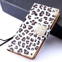 Women Luxury Sexy Leopard Leather Phone Case For iPhone 5 5S For iPhone SE 6 6S Plus For iPhone 7 Card Slot Diamond Buckle Cover