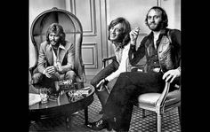 The Bee Gees -- from left to right, Barry, Robin and Maurice Gibb -- in 1979.
