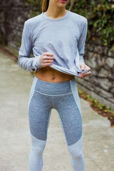 two tone warm up leggings