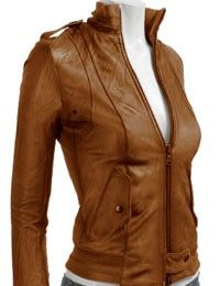 leather jacket. brown.