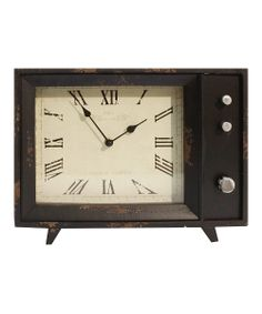 Old TV set-inspired desk clock. This is a cute office accent.