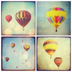 Hot air balloons vintage photos