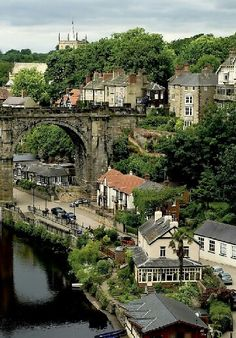 Yorkshire, England The view of River Nidd from Knaresborough Castle